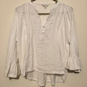 Lucky Brand V-neck Bell Sleeve Top